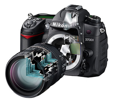 Nikon D7000 ghosted illustration