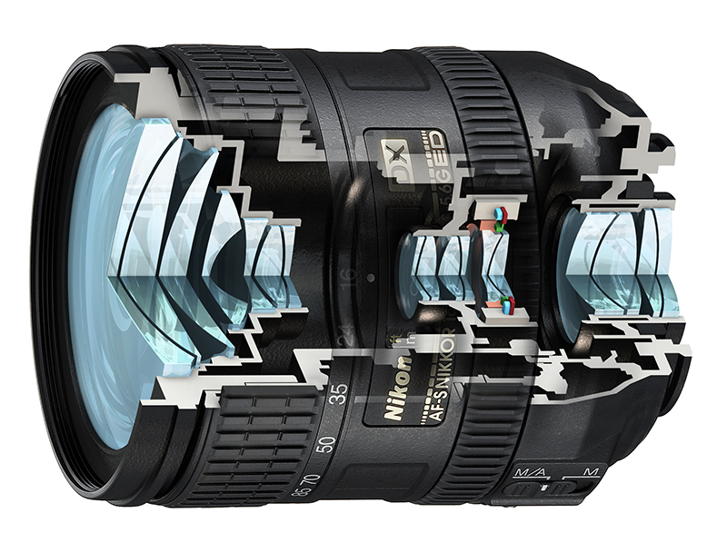 Anatomy Of A Lens Nikon 16 85mm Cutaway Illustration Andy Mclaughlin