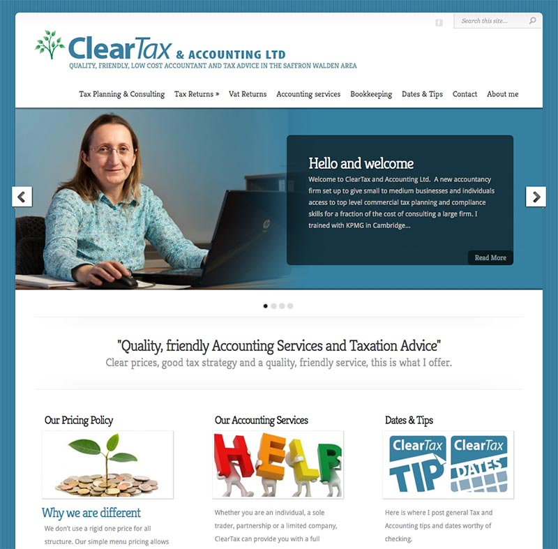 ClearTax and Accounting Ltd – New website