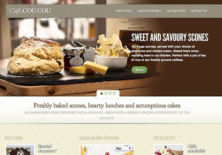 Cafe CouCou Saffron Walden, website including photography