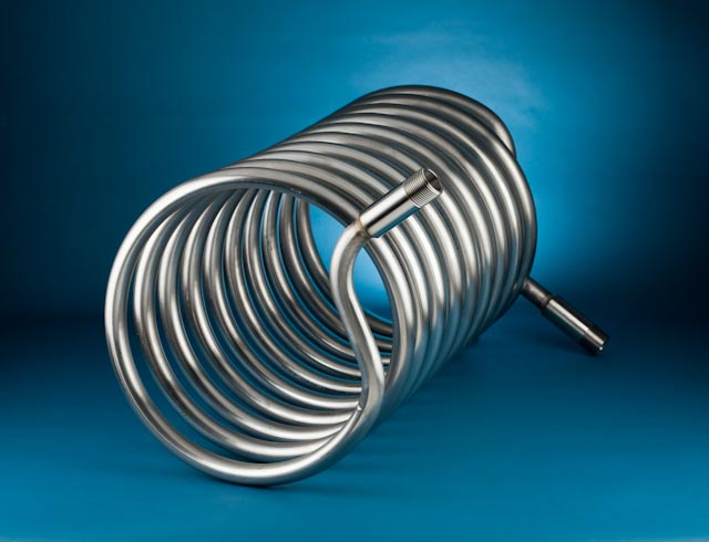 Metal coils product shoot