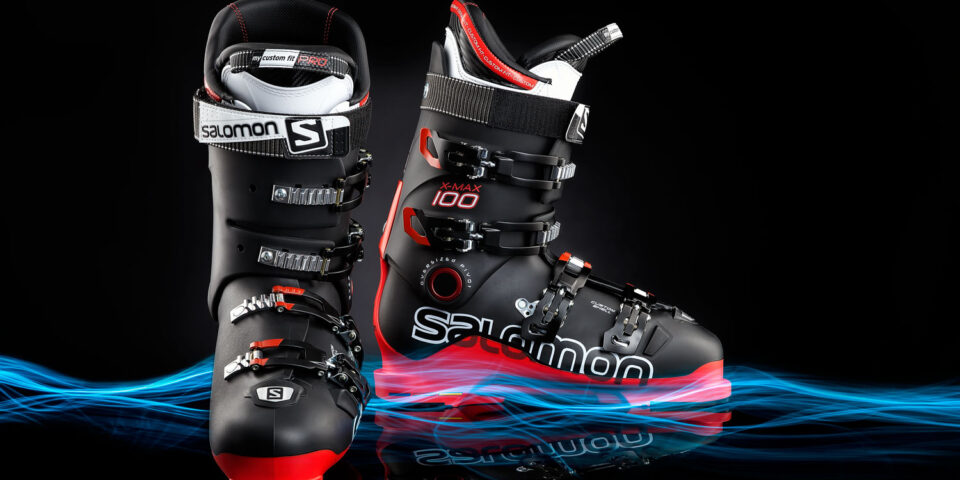 Ski boot lightpainting