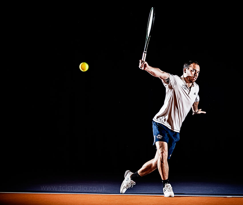 Attila tennis action portrait