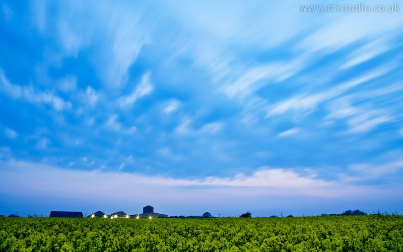 Blue sky – Hadstock airfield