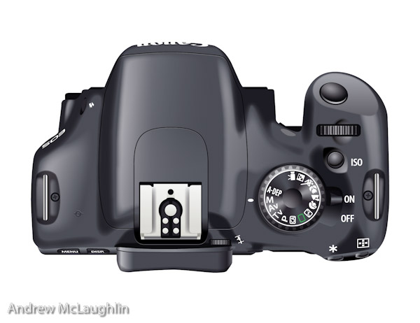 canon eos550d vector illustration top view