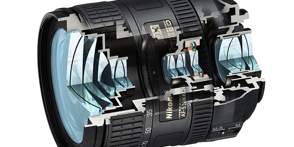 Nikon lens cutaway – Technical Illustration