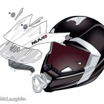 Nuvo moto-X MX helmet technical exploded illustration