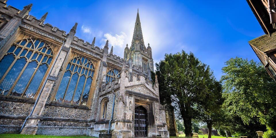 St Mary's church Saffron Walden Essex UK – HDR photographer