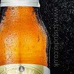 beer bottle product photography detail