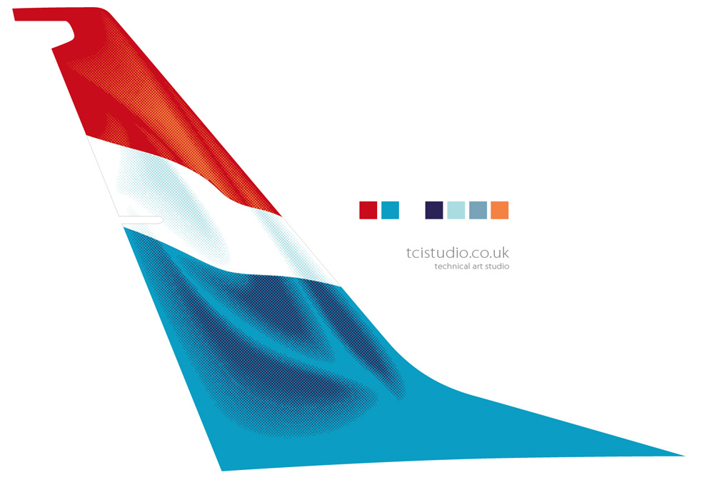 737 Luxair tail fin vector artwork