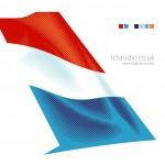 ERJ145 Luxair tail fin vector artwork