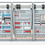 rockwell control unit 3d rendered illustration