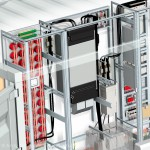 rockwell automation control unit 3d rendered illustration