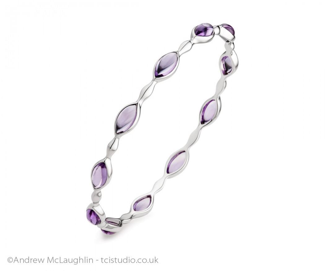 silver-stone-set-bangle-jewellery-product-photography