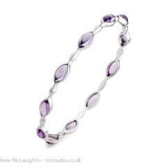 Silver stone set bangle – Jewellery product photography