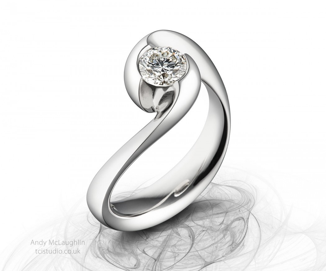 jewellery photography diamond and platinum engagement ring jewellery photographer Andrew McLaughlin tcistudio.co.uk