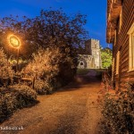 Church path Hadstock UK, low light photography