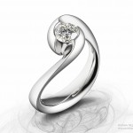diamond and platinum engagement ring jewellery photographer Andrew McLaughlin tcistudio.co.uk