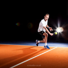 Tennis action portraits, David Lloyd tennis coaches
