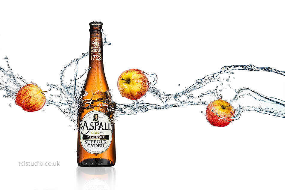Aspall cider splash image by Andrew McLaughlin tcistudio photography and creative services