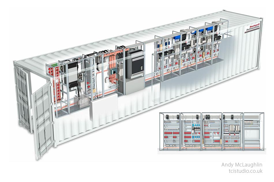 3d technical illustration for Rockwell Automation