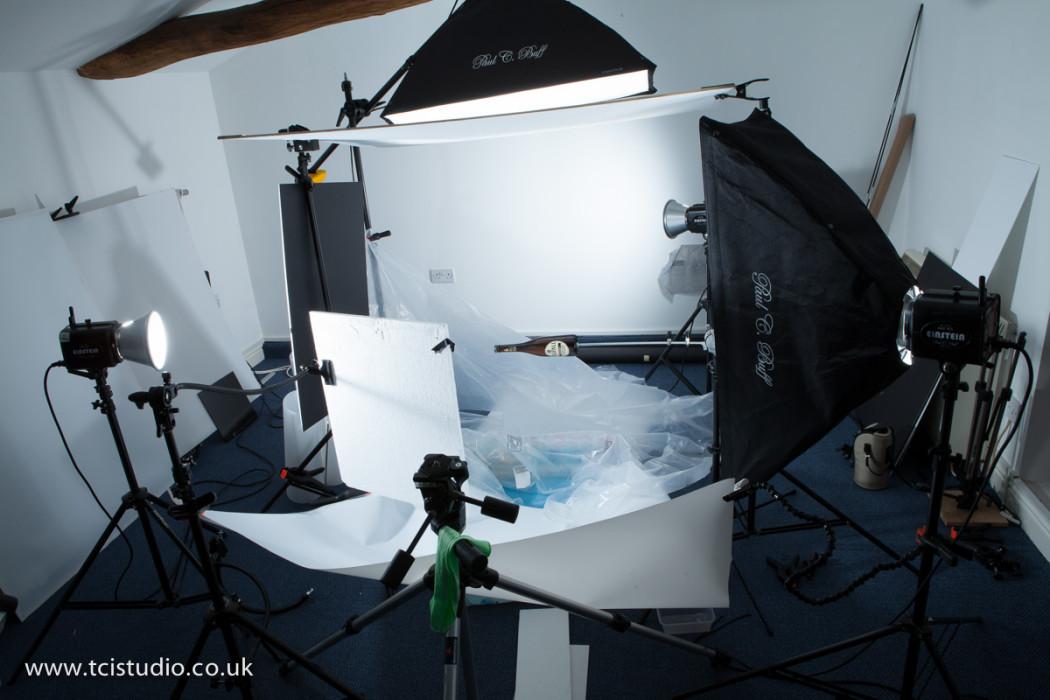 light set-up for splash photography