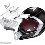 Nuvo moto-X MX helmet technical exploded illustration