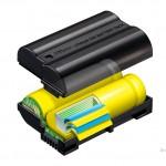 SLR battery sectional technical illustration