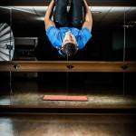 Personal trainer action portrait