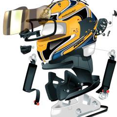 Technical illustration – Motorcycle helmet